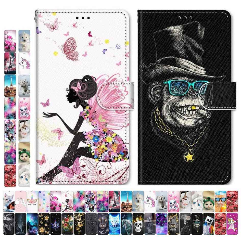 Boys Girls Kids Lovely Phone Bags For Case Samsung Galaxy S9 Plus + S8 S7 S6 S5 Animal Flower Tower Dog Cat Tiger Wolf Lion D08F