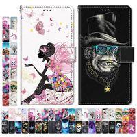 Fundas de teléfono para niños y niñas, bonitas bolsas para Samsung Galaxy S9 Plus + S8 S7 S6 S5, torre de flores de animales, perro, gato, Tigre, Lobo, León D08F