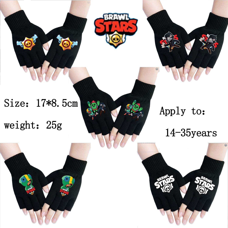 Brawling Gloves Stars Spring Women Warmth Knitted Arm Fingerless Gloves Stretchy Mittens Men Women Hand Arm Warm Female Gloves