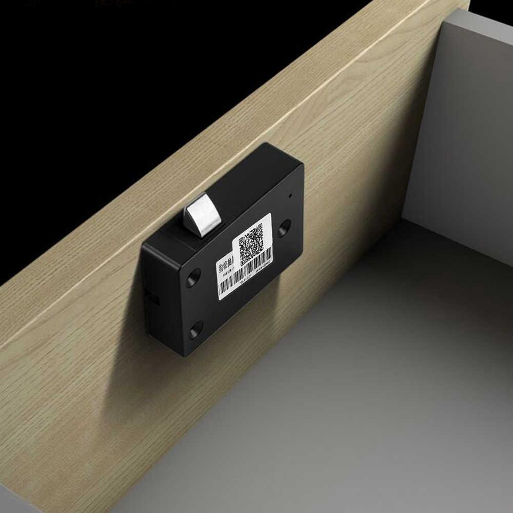 Smart Keyless di Impronte Digitali Serratura Dell'armadietto Biometrico Elettrico di Blocco Delle Impronte Digitali Serratura Del Cassetto per Ufficio Cassetto File Cabinet Nero