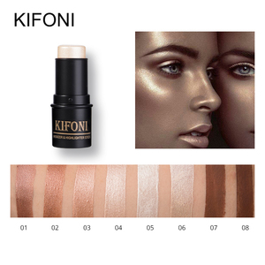 KIFONI makup Bronzer&Highlighter Stick 8 Colors 3D Contour Makeup Concealer Pen Face Waterproof Glow Brighten Stick Cosmetic(China)