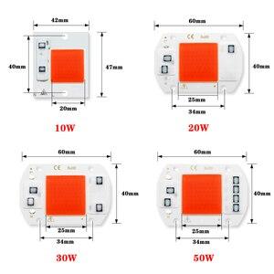 Image 2 - COB שבב LED לגדול אור פיטו מנורת AC 220V 20W 30W 50W ספקטרום מלא לא צריך נהג לצמיחה פרח שתיל לגדול צמח