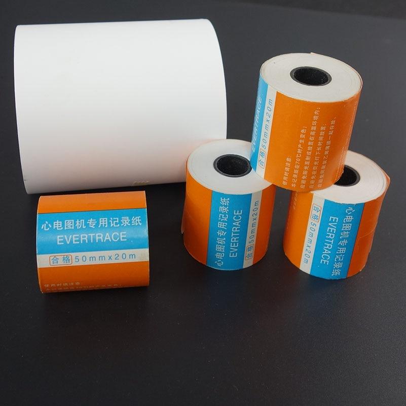 10 Pieces/lot ECG Printing Paper ECG Drawing 50mm*20m Single Lead ECG Machine Dedicated ECG Recording Paper