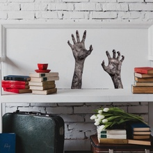 New Wall Sticker Zombie Hands Stickers Decals for Halloween Toilet Refrigerator Decoration Accessories Home Wallpaper PosterCM