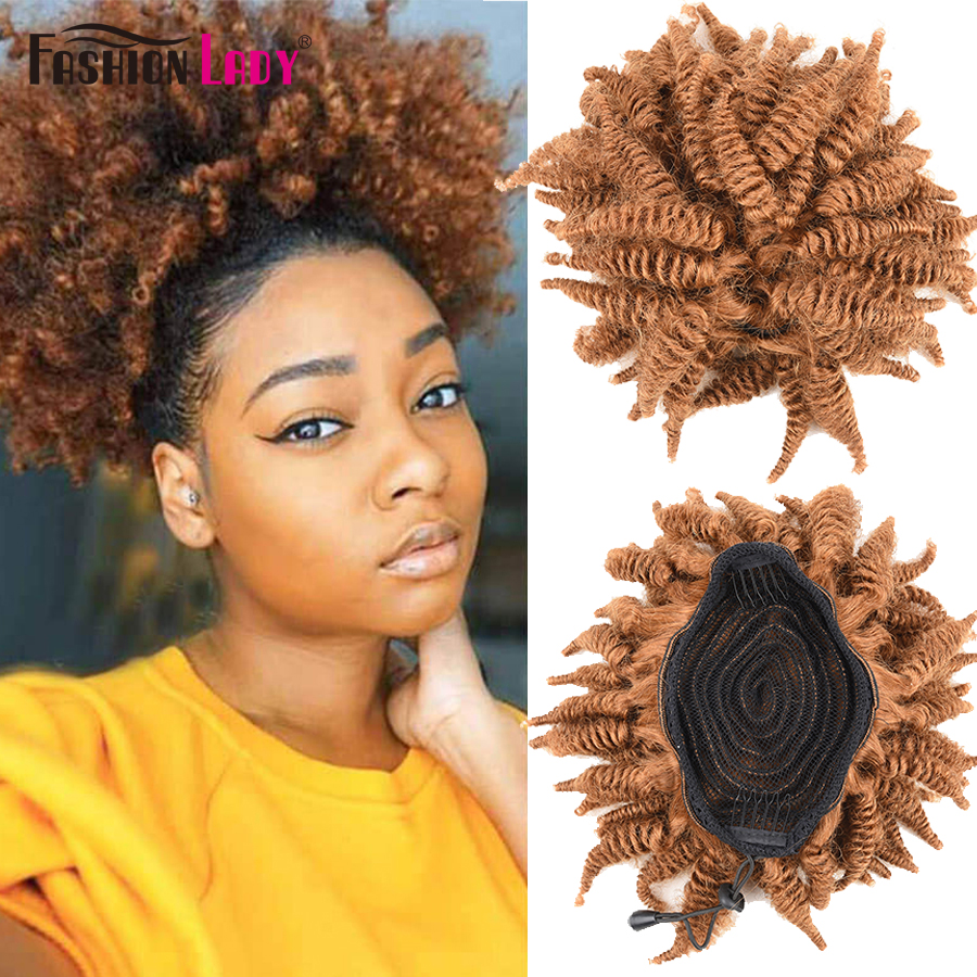 Fashion Lady Afro Kinky Curly Hair Top Ponytail Human Hair Drawstring Ponytail With 2 Clips Remy Hair Ponytail Extensions