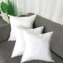 Coussin carré en coton PP, décoration d'intérieur, pour voiture, canapé, chaise, blanc, 45x45 CM