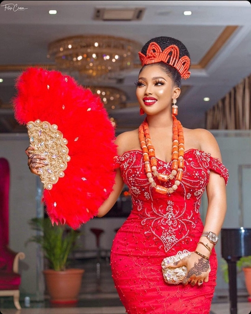 Luxury Red Feathers Aso Ebi Evening Dresses Cap Sleeves Sweetheart Mermaid Plus Size Beaded Formal Party Prom Gowns 2021 3