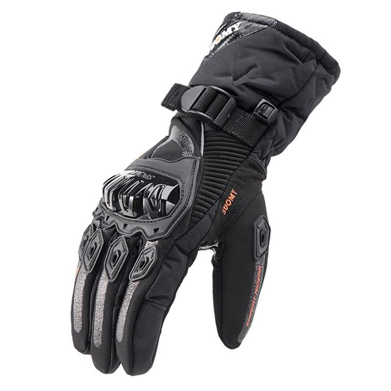 Мотоциклетные Перчатки SUOMY, зима 100%, водонепроницаемые мотоциклетные перчатки, сохраняющие тепло, мотоциклетные гоночные перчатки, мужские...