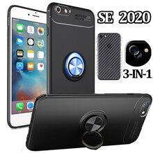 Back Film, Cover For iPhone SE 2020 S E Magnetic Case Shell Capa Funda iphone se 2 Bumper Cases Ring Silicone iphone 2020 se se 9380 s 7085e