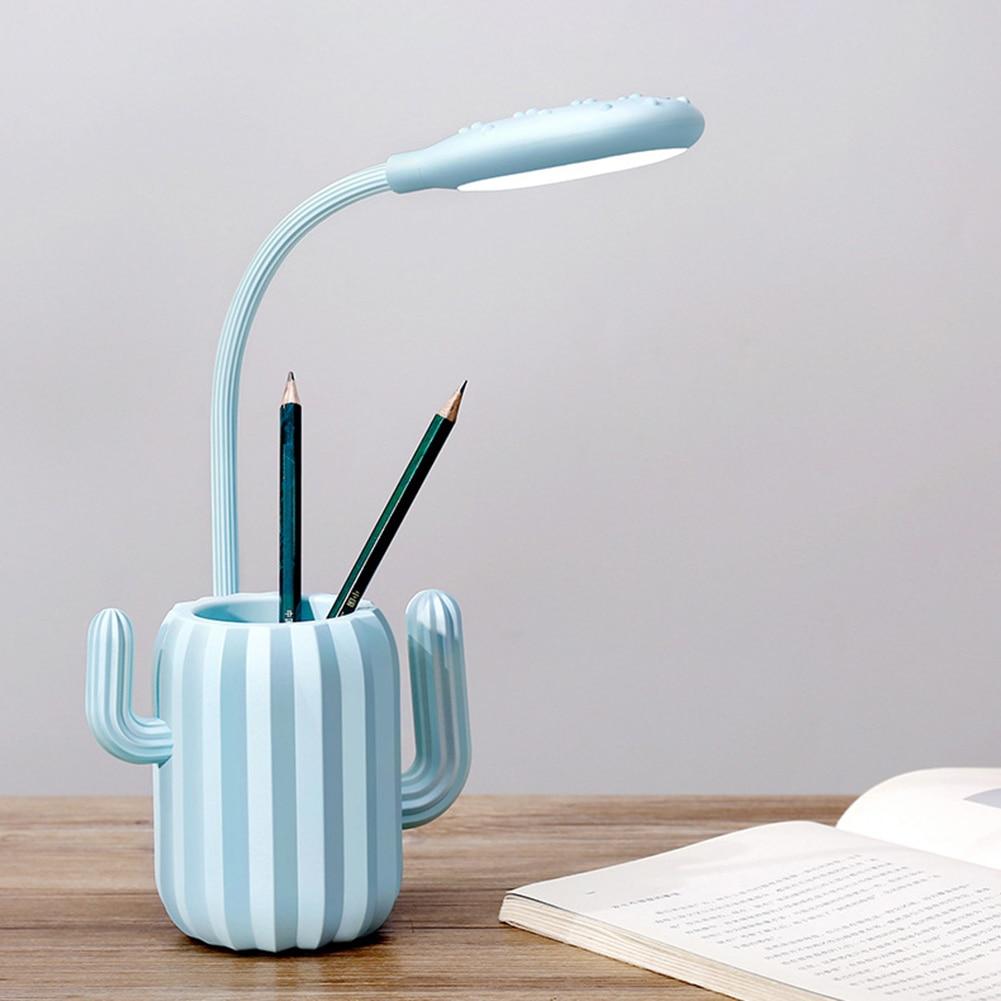 Lâmpada dobrável usb de cacto, lâmpada led