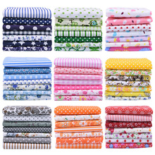 7pcs/set 25x25cm Flower Pattern Cotton Fabric Printed Cloth DIY Handmade Patchwork Material for Needlework Sewing Accessories
