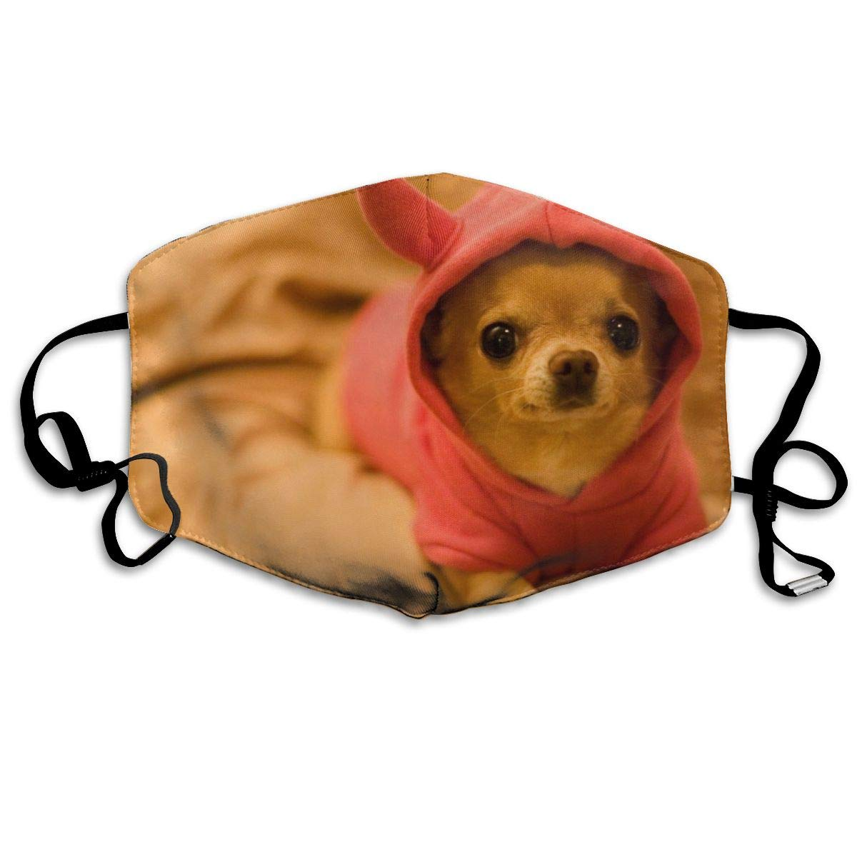 Unisex Breathable Cut Chihuahua Puppy Dog Kids Mouth Mask, Adjustable Earloop   Anti Dust Pollution Face Mask For Running