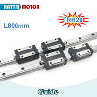 20mm Square Linear Rail Guideway TRH20 800mm &TRH20B Slider Block for CNC Router + TRH20B Square block