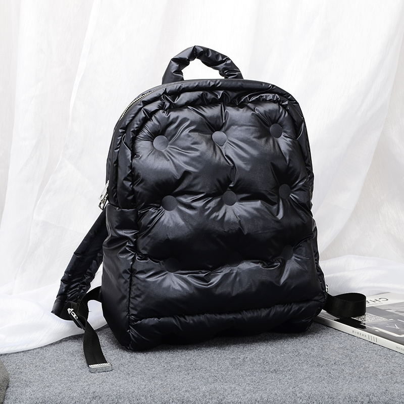 2019 Autumn And Winter New Korean Boom Fashion Jacket Space Cotton Air Bag Unisex Large Capacity Waterproof Business Backpack