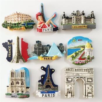 French Refrigerator Stickers Eiffel Tower Nice Versailles Arc De Triomphe Travel Magnetic Stickers Refrigerator Decoration недорого