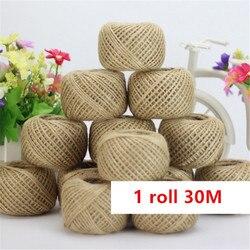 Rolo de corda de cânhamo 30m de 2mm, corda com fio torcida para decoração de casamento, eventos de corda natural de sisal decoração de festa