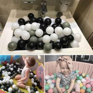 Image 5 - 100/200 Pcs 바다 공 구 덩이 아기 아이 목욕 수영 장난감 어린이 물 풀 비치 공 부드러운 플라스틱 장난감 신생아 사진 프로