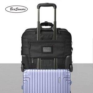 Image 3 - BeaSumore roulettes valise pour hommes, multifonctions, 16 pouces, pour bagages, pilote dentreprise pochette dordinateur