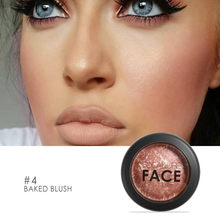 Pro não-florescendo blush maquiagem 6 cores cozido blush bronzer blush rosto contorno blush tslm2