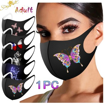 Pretty Butterfly Mask Adult Fashion Washable Reusable Pollution Cover Face Masks Multiple Proteccion Winter Mouth Caps Masque image