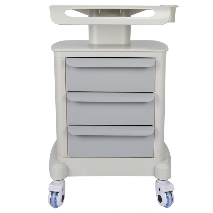 CE Approval Trolley Cart Shelf With 3 Tiers Universal Rolling Wheels Storage Rack For Salon Spa Use