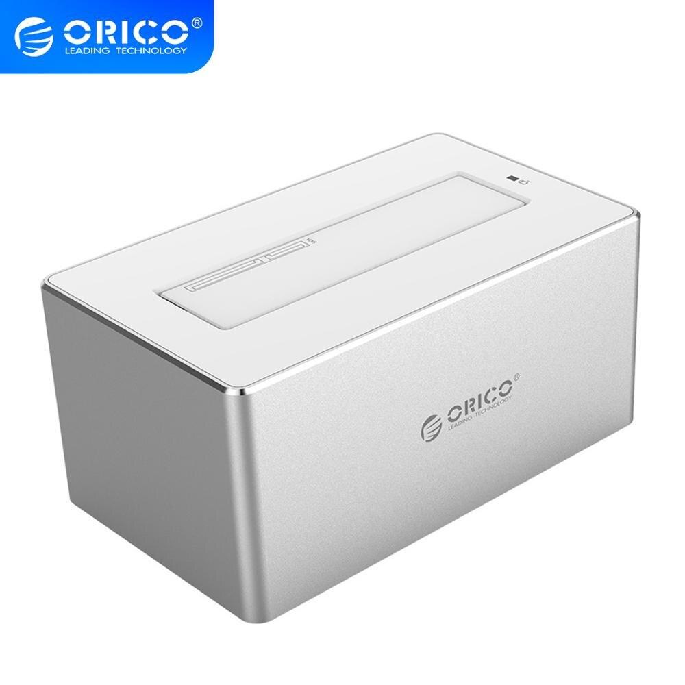 ORICO alüminyum 3.5 inç SATA USB 3.0 HDD yerleştirme İstasyonu SSD adaptörü için 2.5 3.5 sabit Disk desteği 10TB 12V güç ile