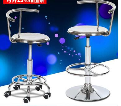 304 Stainless Steel Back Lift Bar Chair School Laboratory Medical Stool Dust-free Workshop Assembly Line Chair