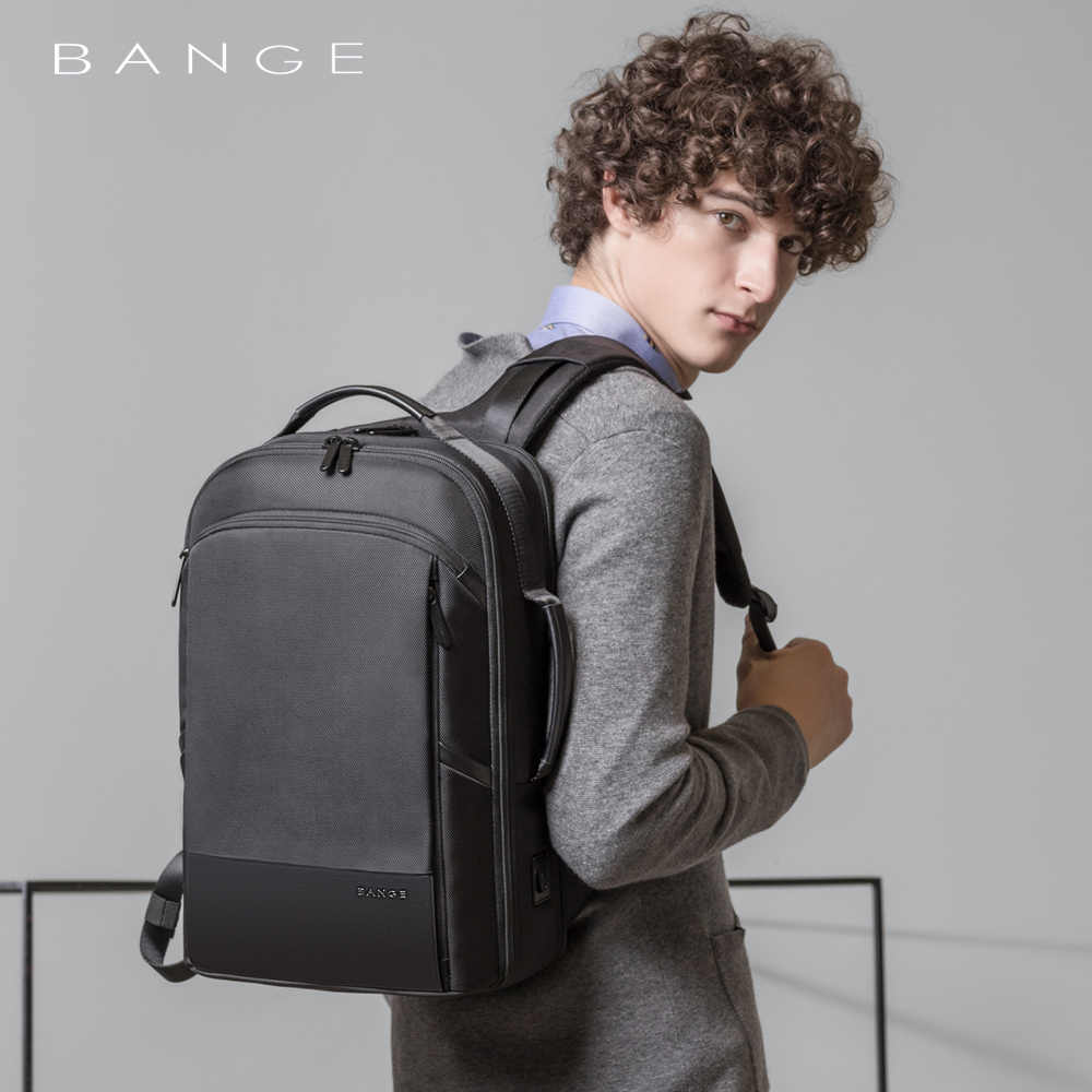 Weekend Travel Backpack 15.6 inch Laptop Backpack Men Women Office Work Men Backpack Business Bag USB Charging Unisex Black