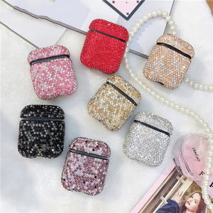 Image 5 - Luxury Diamond Earphone Rigid Hard Protector Cover For Apple Airpoads 1st 2nd Bluetooth Wireless Earphone Case Charging Box