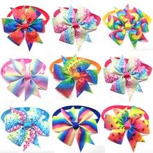 30 Pcs Pet Dog Cat Bow Tie Colorful Spring Bowknot Adjustable Pet Collaar Bow Tie Necktie Dog Accessories Pet Supplier