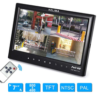 7 Inch Car Rear View Monitor HD Display Screen LCD DVD / GPS / TV Rearview Parking Assistance System Car Video Players