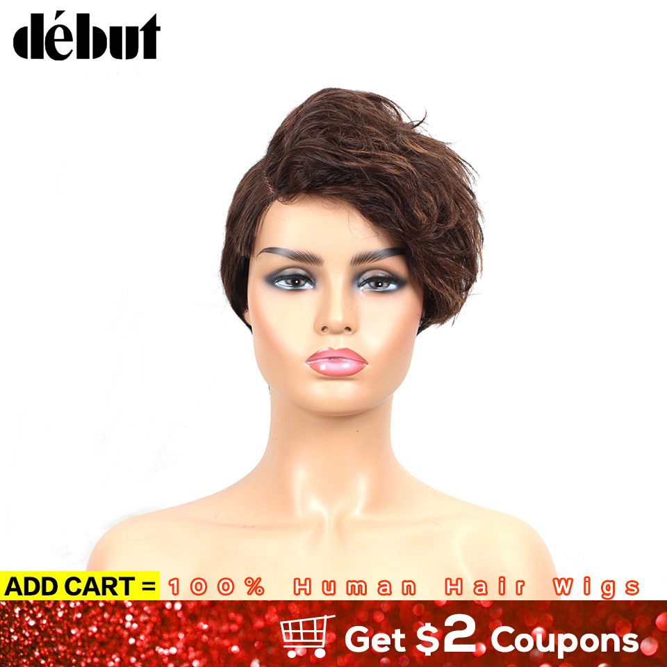 Debut Human Hair Wigs Short Wavy Human Hair Wigs U Part Lace Human Hair Wigs 99J Red Brazilian Wholesale Human Hair Wig For Mom