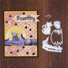 InLoveArts Halloween Cat Dies Metal Cutting Dies for Card Making Scrapbooking Embossing Cuts Stencil Craft New 2019 for Dies inlovearts special day letter dies frame metal cutting dies new 2019 for card making scrapbooking dies embossing cuts craft dies