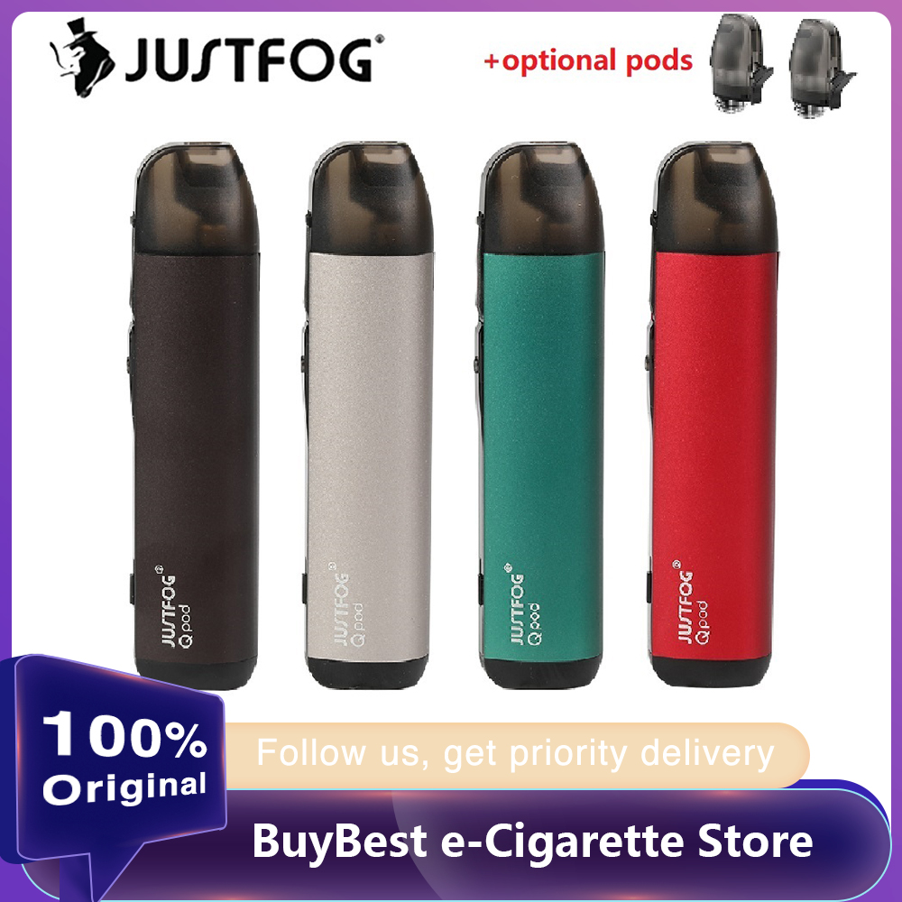 NEW Original JUSTFOG QPOD Kit E-cig Vape Kit With 900mAh Battery & 1.9ml Pod & 1.6ohm OCC Bottom Coil Vs JUSTFOG Q16 Pro Kit