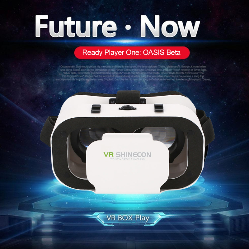 <font><b>VR</b></font> Virtual Reality 3D <font><b>VR</b></font> <font><b>Glasses</b></font> Helmets 720-1080P Resolution Supports 4.7 to 6.0 inch <font><b>For</b></font> iPhone Android Smartphone Smart Phon image