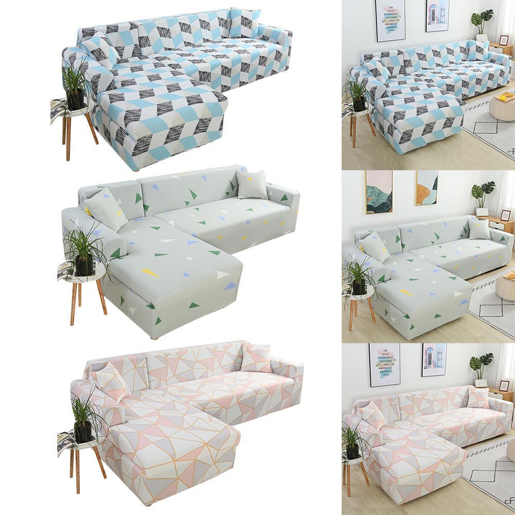 Mega Deal #39b1b - L-shaped Sofa Cover Large Classic Strech ...