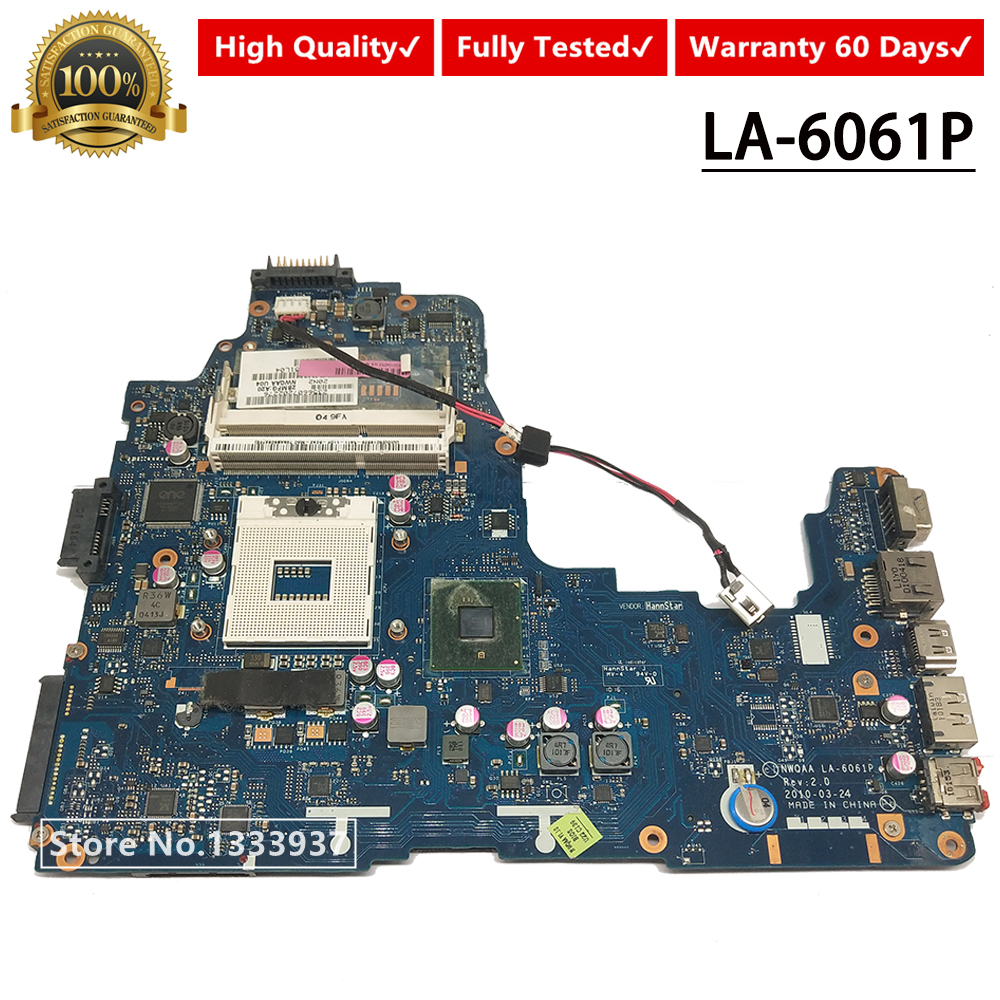 K000104250 Mainboard For Toshiba Satellite A660 A665 Laptop Motherboard NWQAA LA-6061P