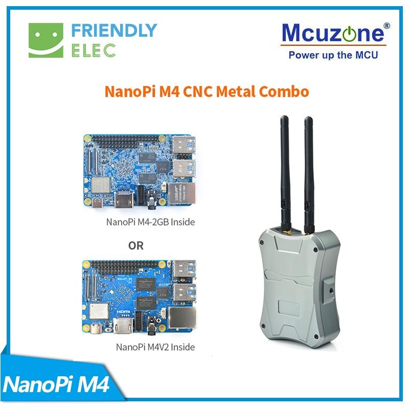 NanoPi M4-2GB/M2V2 CNC Metal Case Combo Rockchip FriendlyELEC RK3399 SoC 2.4G & 5G Dual-band WiFi+Bluetooth 4.1 Ubuntu Android