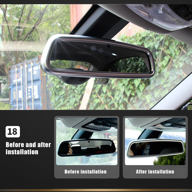 Car interior modification For <font><b>BMW</b></font> new <font><b>3</b></font> <font><b>Series</b></font> 2013-2016 <font><b>GT</b></font> 316i 320li rearview mirror sequin welcome pedal decorative frame image