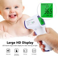 Forehead Non Contact Baby Thermometer Infrared LCD Body Temperature Fever Digital IR Measurement Tool Gun for Baby Adult Hot!