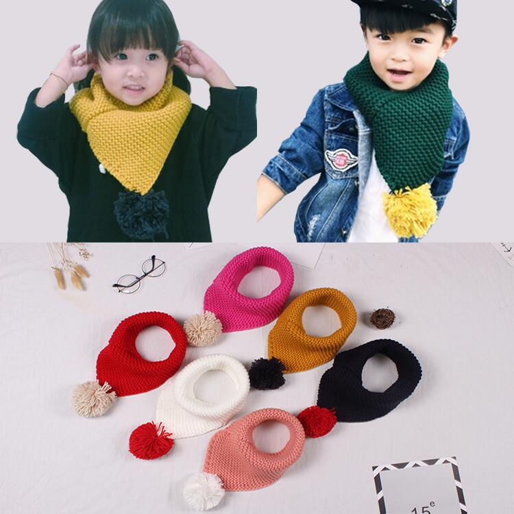 Autumn And Winter Children's Bibs, Baby Boys And Girls Lovely Knitting Acrylic Wool Comfortable Soft Warm Scarf Neck Cover Fashi