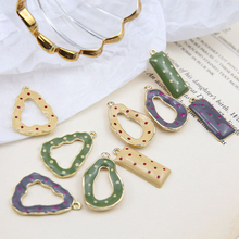 2 pcs 2019 new fashion classic alloy wave hollow irregular oval pendant statement  earrings for women diy jewelry accessories
