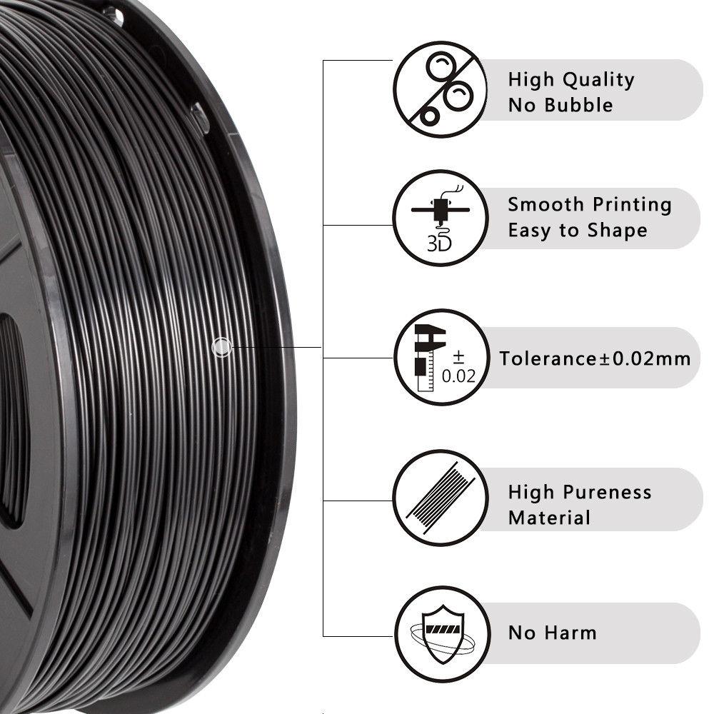 Купить abs 3d принтеры нити 175 мм 1 кг abs печать для заправки зажигалок