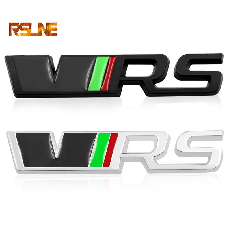 1 PCS 3D Metal For Skoda VRS Car Stickers For Octavia Hao Rui Fabia Xin Rui Sports Car Logo Metal Logo Modified Trunk Standard