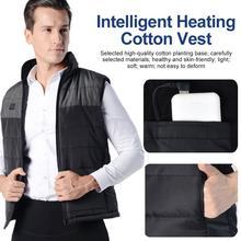Мужчины и женщины с подогревом жилет USB инфракрасный с подогревом жилет куртка регулировка температура зима теплый высокий шея защита шея жилет