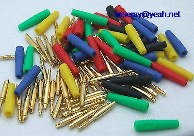 DHL/EMS 250pcs Colors Copper 2mm Banana Plug For Binding Post Test Probes Medical Devices-A7