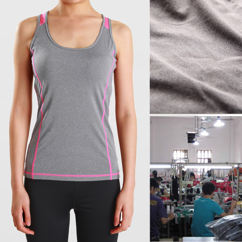 Small Single-Monochrome 100 Pieces MOQ, 7 Days Fast Sports Fitness Vest T-shirt Processing
