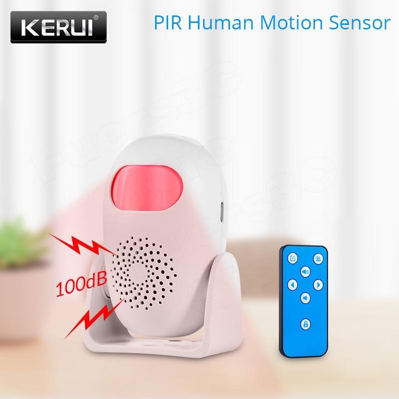 KERUI PIR Human Motion Sensor Security Alarm System Detector Anti-theft Motion Detector Welcome Doorbell Human Body Detector