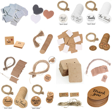 100pcs/lot Kraft Paper Gift Tags Thank You For Celebrating Thanks Label For Wedding Decoration Baby Shower Party DIY Decoration