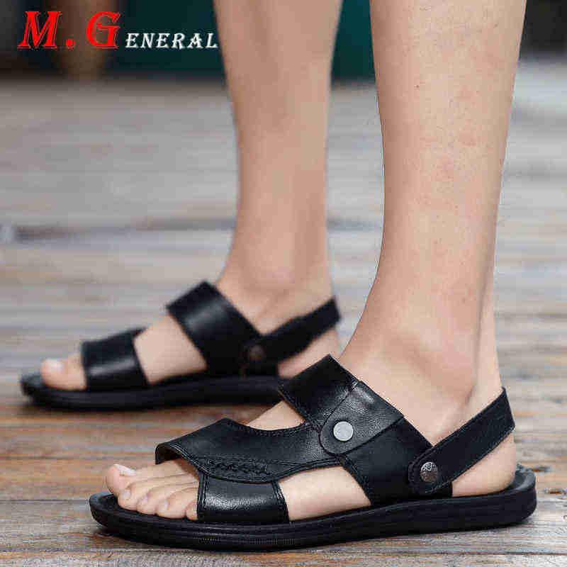 Cow Leather Men's Summer Shoes Mens